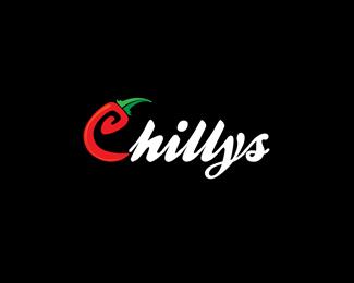 Logo restauracji z ostrym jedzeniem